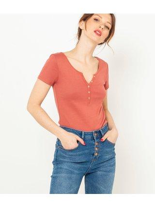 Cihlové basic tričko CAMAIEU