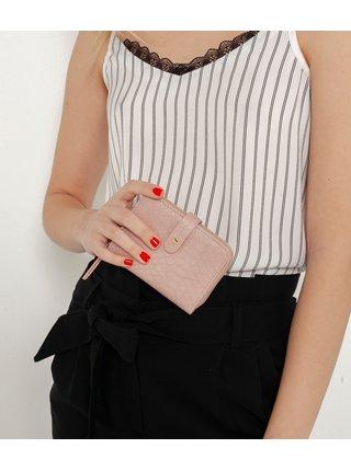 Ružová peňaženka so zvieracím vzorom CAMAIEU