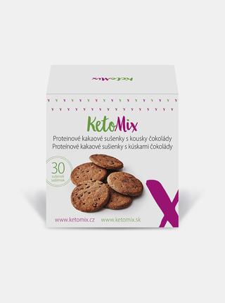 Proteinové kakaové sušenky s kousky čokolády KetoMix (30 sušenek)