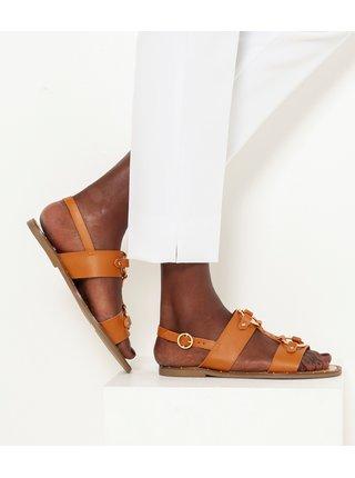 Hnedé sandále CAMAIEU