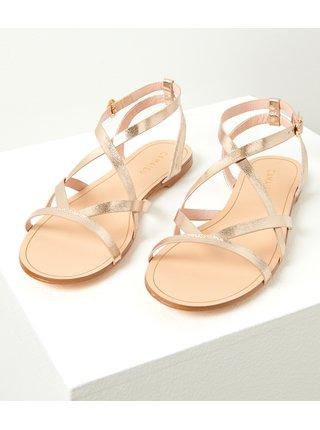 Ružovozlaté sandále CAMAIEU