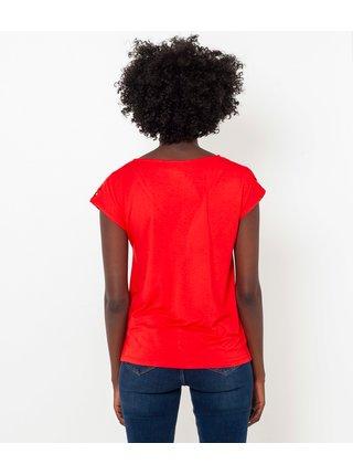 Červené tričko s hadím vzorom CAMAIEU