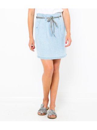 Světle modrá sukně CAMAIEU