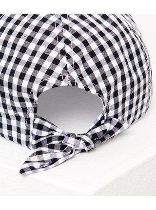 Černo-bílá kostkovaná kšiltovka CAMAIEU