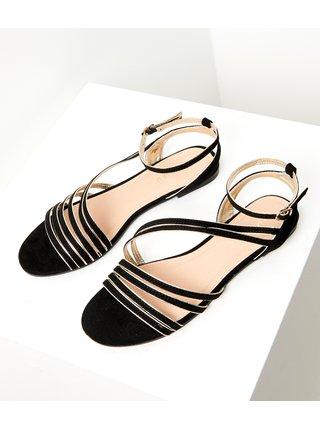 Černé sandále v semišové úpravě CAMAIEU