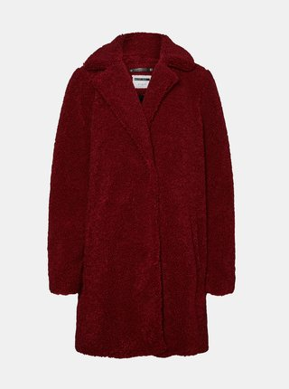 Vínový kabát Noisy May Gabi