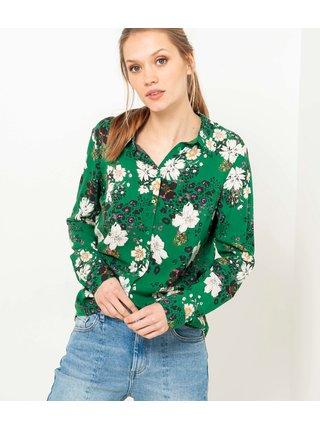 Zelená květovaná košile CAMAIEU
