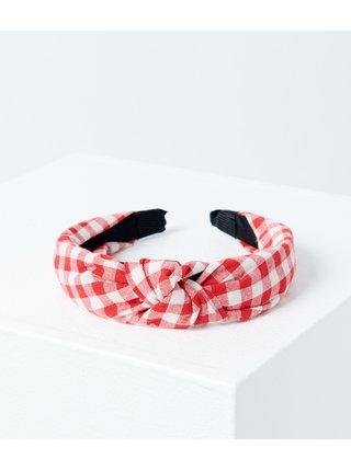 Červená kostkovaná čelenka CAMAIEU