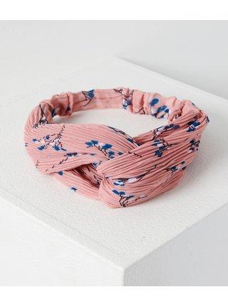 Růžová květovaná čelenka CAMAIEU