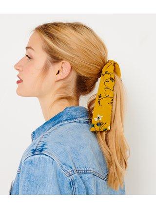 Hořčicová květovaná gumička CAMAIEU