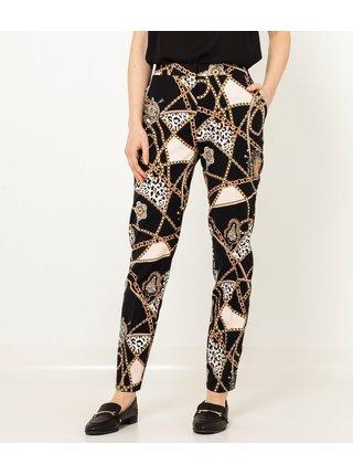 Černé vzorované kalhoty CAMAIEU