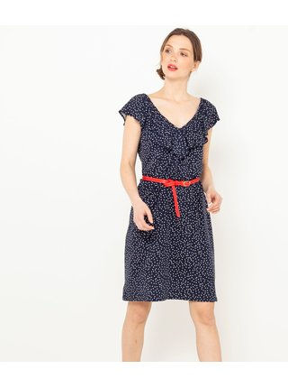 Černé puntíkované šaty CAMAIEU