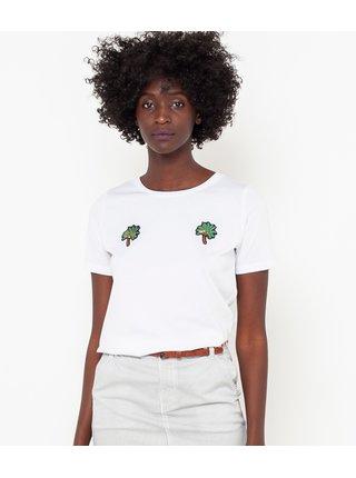 Biele tričko s nášivkou CAMAIEU