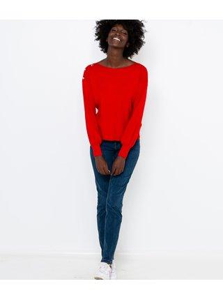 Červený lehký svetr CAMAIEU