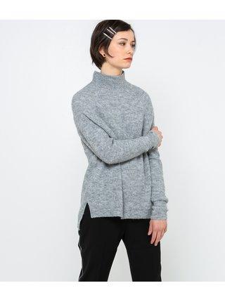 Svetlošedý sveter so stojačikom CAMAIEU