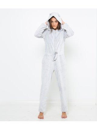 Šedý pyžamový overal CAMAIEU
