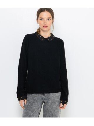 Čierny sveter s prímesou vlny CAMAIEU