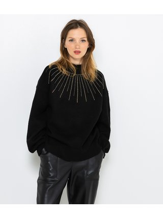 Čierny vzorovaný sveter CAMAIEU