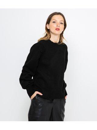 Černý svetr s balonovým rukávem CAMAIEU