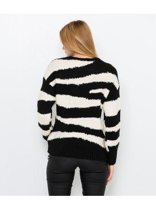 Bielo-čierny sveter so zebrím vzorom CAMAIEU