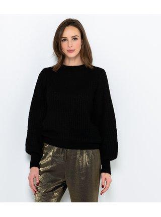Černý svetr s příměsí vlny CAMAIEU