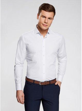 Košile se vzorem s dlouhým rukávem OODJI