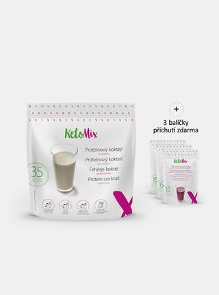Proteinový koktejl: káva, lesní plody, kokos KetoMix (35 porcí)