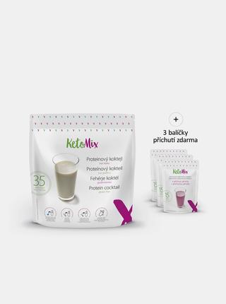 Proteinový koktejl: čokoláda, vanilka, jahoda KetoMix (35 porcí)