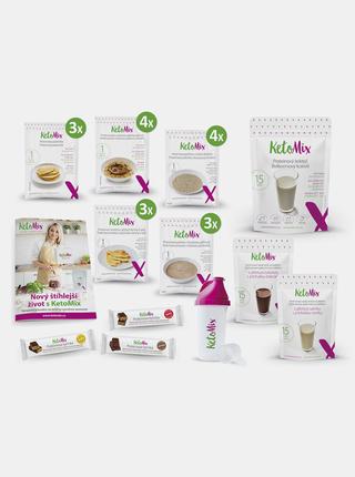 Ketonová dieta Ochutnávkový týdenní balíček: čokoláda a vanilka KetoMix