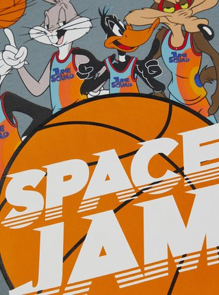 Šedí klučičí tričko s potiskem name it Space Jam