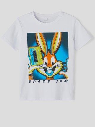Bílé klučičí tričko s potiskem name it Space Jam