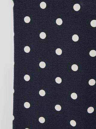 Tmavě modré puntíkované holčičí legíny name it Vivian