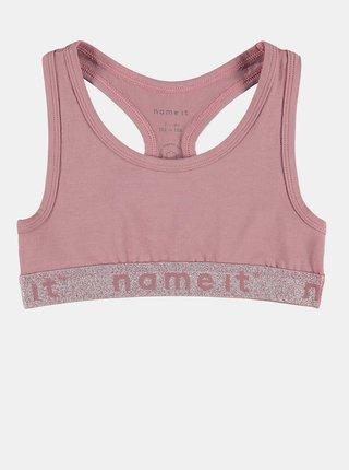 Sada dvou holčičích podprsenek v růžové a fialové barvě name it Short