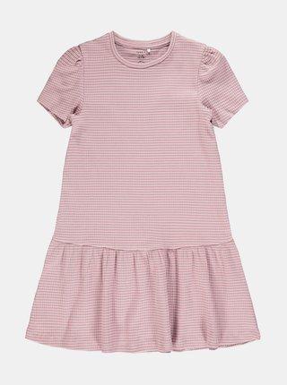 Světle růžové pruhované holčičí šaty name it Lara
