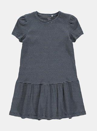 Tmavě modré pruhované holčičí šaty name it Lara