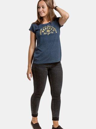 Modré dámské tričko s potiskem Meatfly Ellie