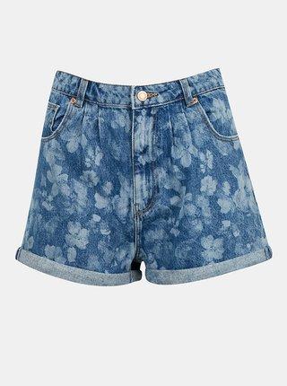 Modré vzorované džínové kraťasy TALLY WEiJL
