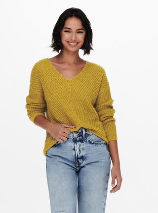 Žltý sveter Jacqueline de Yong New Megan