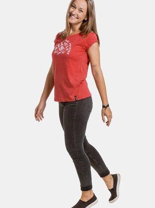 Červené dámske tričko s potlačou Meatfly Ellie