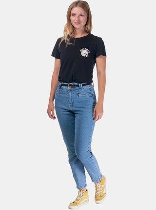 Čierne dámske tričko s potlačou Meatfly Adena