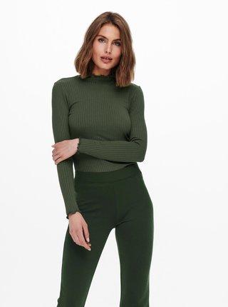 Tmavě zelené tričko Jacqueline de Yong Fransiska