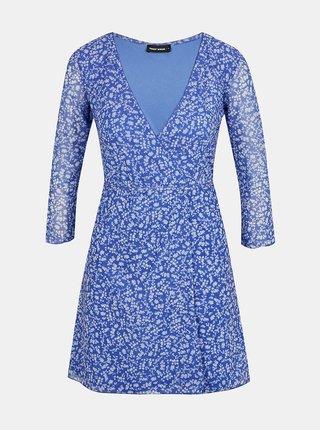 Modré květované zavinovací šaty TALLY WEiJL