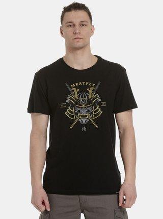 Černé pánské tričko s potiskem Meatfly Katana