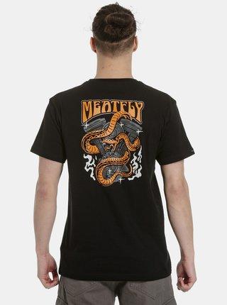 Čierne pánske tričko s potlačou na chrbte Meatfly Pistons