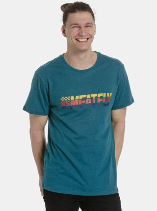 Modré pánske tričko s potlačou Meatfly Rust