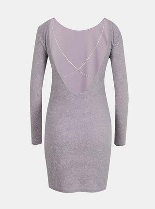 Světle fialové pouzdrové šaty s odhalenými zády TALLY WEiJL