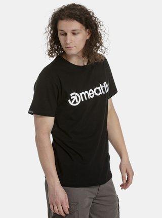 Čierne pánske tričko s potlačou Meatfly Logo