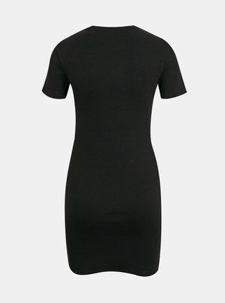 Černé žebrované pouzdrové šaty TALLY WEiJL