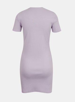 Světle fialové žebrované pouzdrové šaty TALLY WEiJL