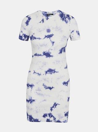 Modro-bílé vzorované pouzdrové šaty TALLY WEiJL